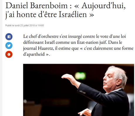 Daniel Barenboïm est-il lui-aussi antisémite ? #Israel
