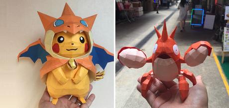 Pokémon : il réalise des sculptures à couper le souffle avec du papier coloré !