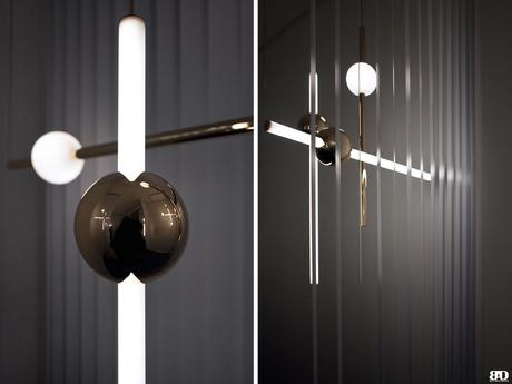 Observatory by Lee Broom, luminaires contemporains. Milan Design Week 2018