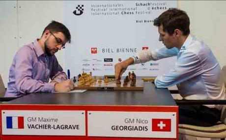 Première victoire du Français Maxime Vachier-Lagrave à Bienne dans la ronde 5 - Photo © Lennart Ootes