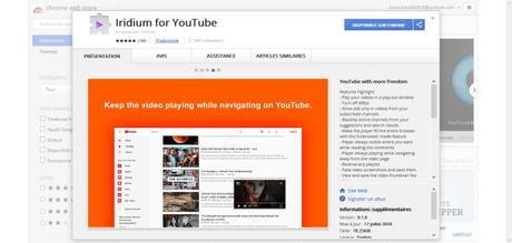 Iridium : l'extension qui améliore YouTube