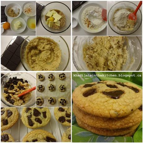 BISCUITS AUX MORCEAUX DE CHOCOLAT / CHOCOLATE CHUNK COOKIES / GALLETAS CON TROZOS DE CHOCOLATE / بيسكوي بالشوكولاطة