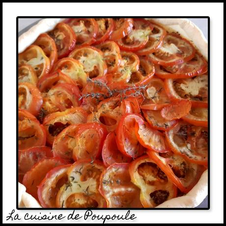 Tarte à la tomate à la moutarde à l'ancienne