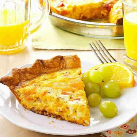 Tarte jambon et fromage cheddar avec thermomix