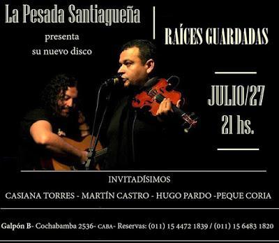 Musique de Santiago del Estero au Galpón B ce soir [à l'affiche]