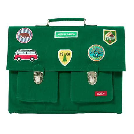 Bakker made with love Cartables Big Bretelles Canvas Patches Vert
