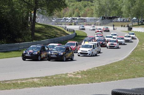 Coupe Nissan Micra - premier weekend de course au Québec cette année