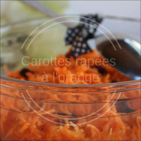 Salade de carottes rapées à l'orange