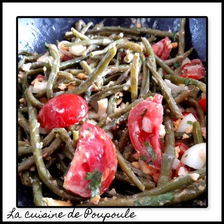 Salade de Haricots vert et tomates