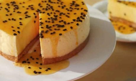 Cheesecake aux fruits de la passion avec thermomix