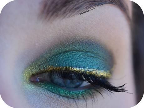 Green Makeup & Gold Liner {10-Year Anniversary Kat von D}
