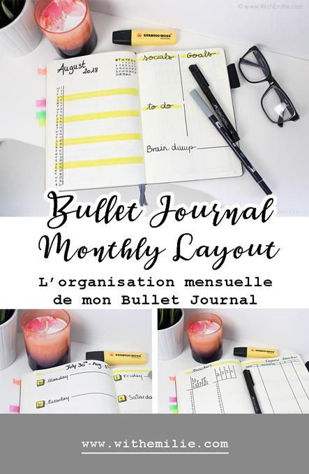 August Bullet Journal | Mon Bujo du mois d'Août 2018