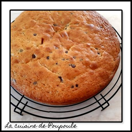 Gâteau au yaourt grec aux pêches