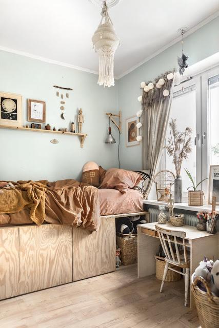 Suède / La chambre aux couleurs naturelles de Sonny Lou /