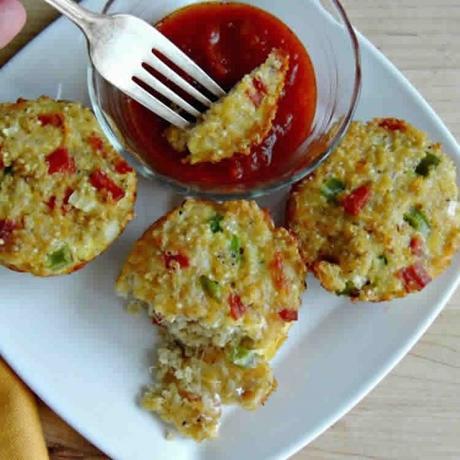 Muffins de Courgettes Tomates et Basilic avec thermomix