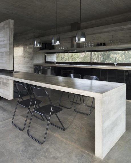 maisons sans étage cuisine salle à manger épuré design
