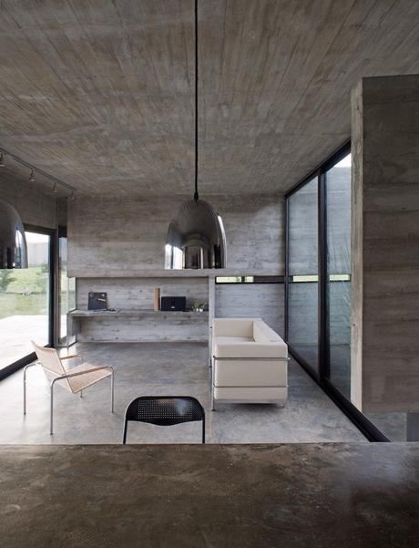 maison sans étage salon design épuré sobre