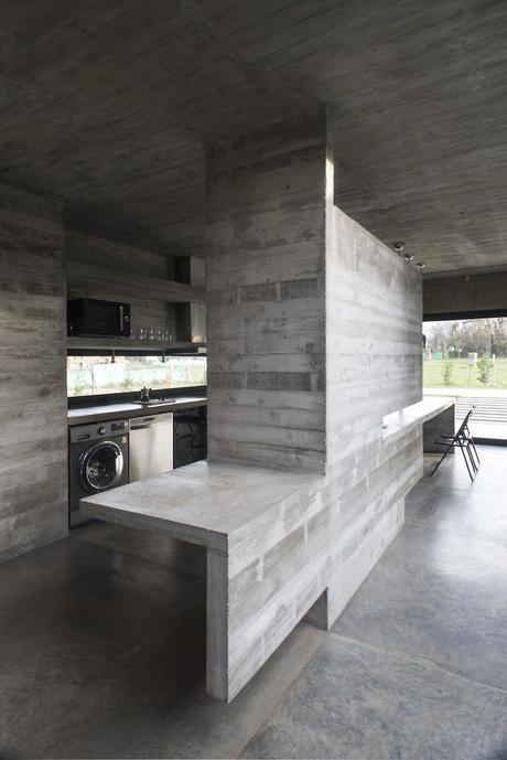 maison sans étage cuisine sobre gris