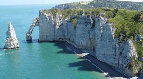 Le dixième plus beau paysage de France: Les falaises d'Etretat
