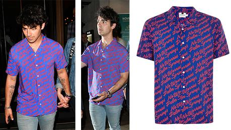 STYLE : Joe Jonas in a Palm Springs print shirt