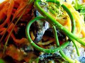 Pâtes carbonara champignons portobello