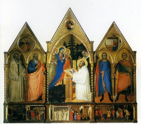 Master of the Rinuccini Chapel, The Vision of Saint Bernard, Accademia, Florence, 1370