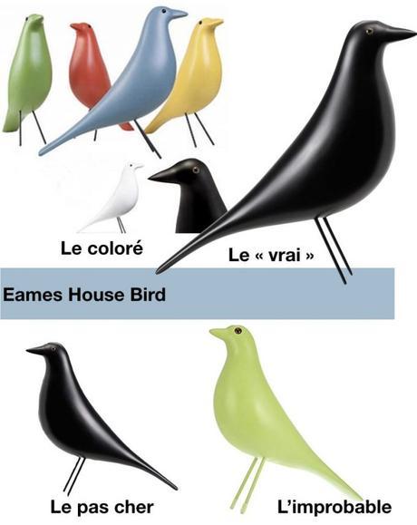 oiseau eames house bird pas cher couleur bleu blanc rouge vert blog deco clemaroundthecorner