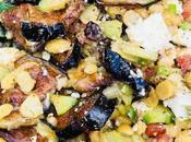 Salade pois chiches aubergine