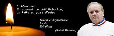 Joël Robuchon nous a quitté