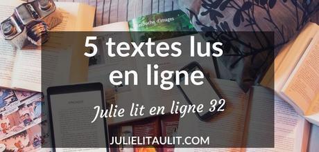 Julie lit en ligne | Semaine 32