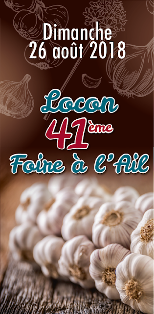 41éme Foire à l'ail de Locon le 26 août 2018