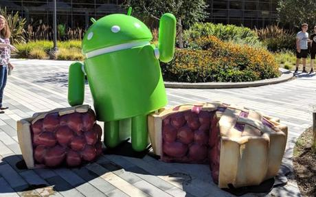 Android 9.0 Pie : Google dévoile la statue officielle.