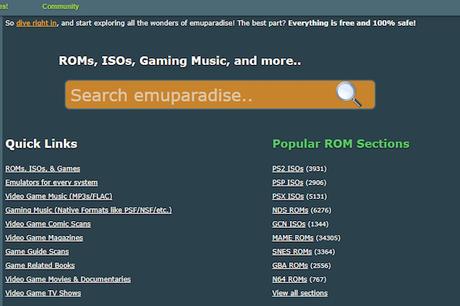 EmuParadise retire ses ROMs par peur d'une plainte !