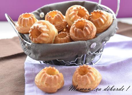 Minis cakes chèvre, miel et noix