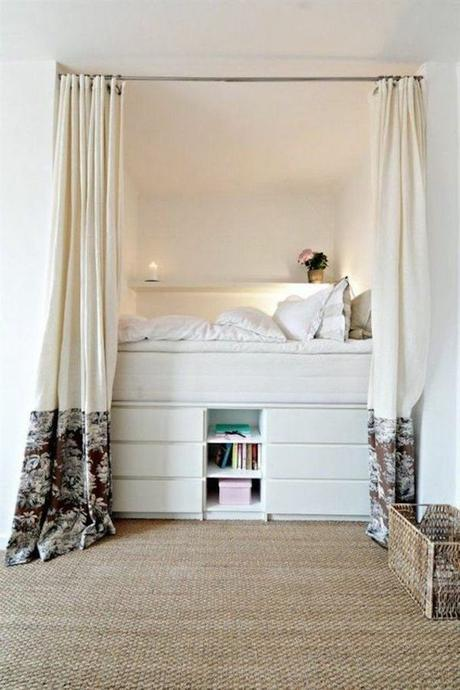 lit mezzanine chambre dans salon idée déco ikea hack