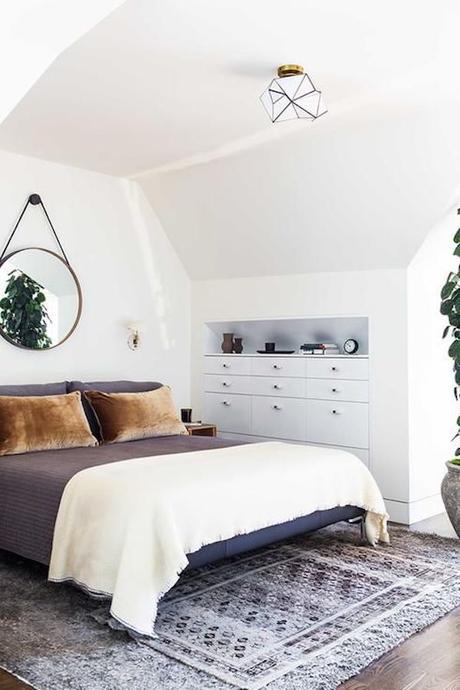 chambre dans salon tapis espace