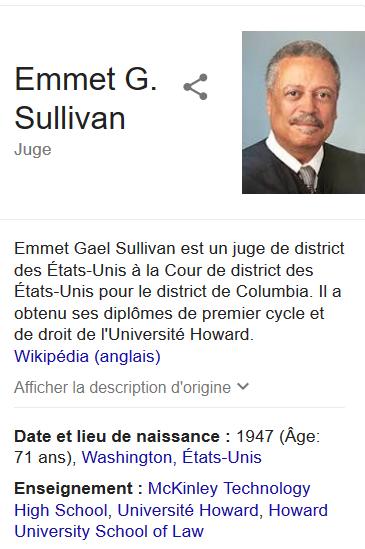 Emmet G. Sullivan, mon héros du jour.