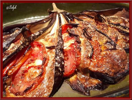 Eventail d'aubergine parfumée à l'origan