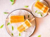 Bâtonnets glacés mangue yaourt