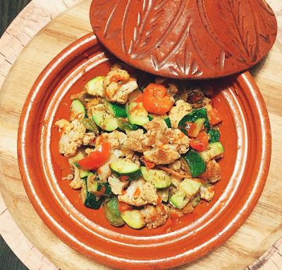 Faux tajine safrané aux légumes grillés