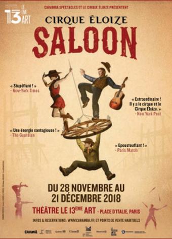Le cirque Eloize de retour à Paris pour son 25ème anniversaire avec « Saloon »