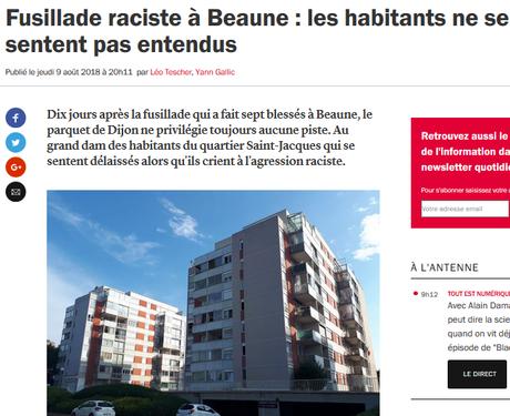 la fusillade de #Beaune était bien RACISTE (silence coupable des politiques)