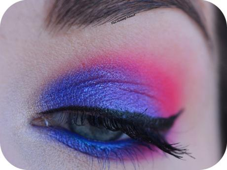 Blue and Pink ELECTRIC Makeup {Huda Beauty}