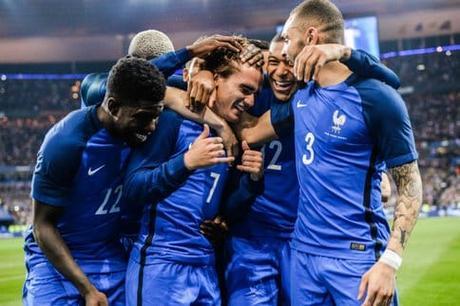 Les joueurs de l'Equipe de France
