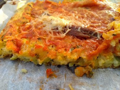 Pizza à la pâte de courgette