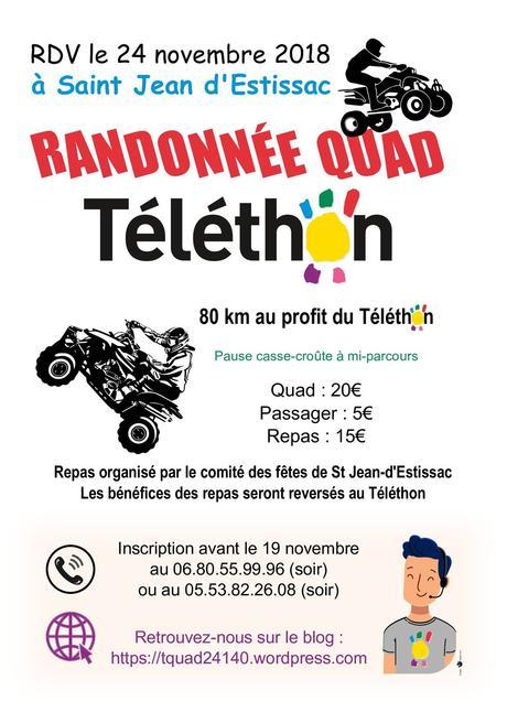 Rando quad à St Jean d'Estissac (24) du Comité des Fêtes e 24 novembre 2018