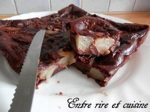 Clafoutis Poires Cacao