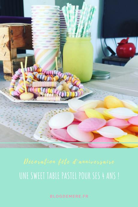 Les 4 ans de Miniloute : la sweet table pastel !