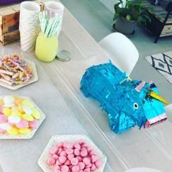 bonbons sweet table pastel