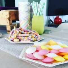 anniversaire sweet table pastel